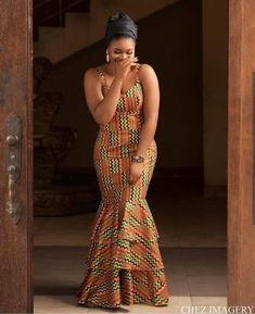 52 Edition of EsB TV - Shop From These New Aso ebi Lace style & African Print Trend Source by fatumamy African Fashion Ankara, Latest African Fashion Dresses, African Dresses For Women, African Print Dresses, African Print Fashion, African Attire, African Dress Styles, Africa Fashion, African Style