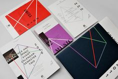 The identity system for the Victorian College of the Arts (VCA) was created by Coöp (design studio by Marcus Fuog) in collaboration with Axel Peemoeller. The complete identity is focused on the artistic culture of the faculty. The graphics visualize the different areas of the four sub schools – arts, performing arts, music, film and television.