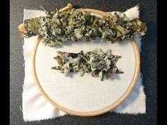 How to Make a Lichen Covered Branch by Craft Jitsu Hand Embroidery Online Class - YouTube