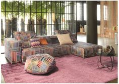 This patchwork couch by MissoniHome is so much colorful fun!