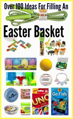 Over 100 Ideas for Filling An Easter Basket || The Chirping Moms