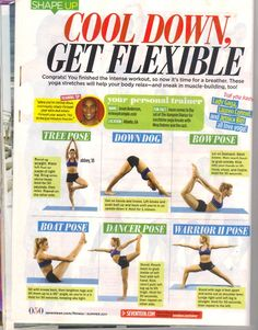 Great Cool Down Routine for after your workout, work on your flexibility.