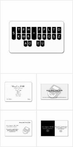 Court Reporter Business Cards