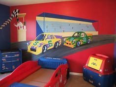 Painted Car Wall Murals Ideas   My Dad Could SO Do This... | Coltonu0027s New  Room | Pinterest | Wall Murals, Walls And Room