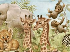 Penny Parker Images - baby elephants, lions, giraffes & monkeys