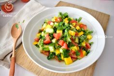 Salty Foods, Mini Desserts, Healthy Salads, Vinaigrette, Fruit Salad, Cantaloupe, Mango, Easy Meals, Food And Drink