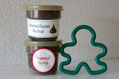 Chocolate and Gingerbread Play Doughs