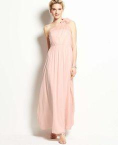 Silk Georgette Floral One Shoulder Gown on shopstyle.com