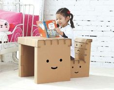 Juguetes de cartón para niños: fotos ideas DIY - Mobiliario de cartón