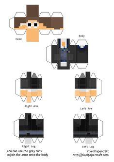 Papercraft Minecraft Skin, Minecraft Templates, Skins Minecraft, Minecraft Pixel Art, Minecraft Stuff, Mc Skins, Paper People, Sticker Paper, Stickers