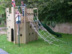 All Out Play climbing centre wooden playhouse, with or without slide