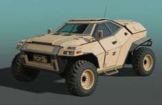 Khakicar by Timo Kujansuu on ArtStation. Army Vehicles, Armored Vehicles, Automobile, Bug Out Vehicle, Terrain Vehicle, Futuristic Cars, Jeep Wrangler Unlimited, Military Equipment, Cute Cars