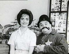 Peggy Mitchell with Clancy the Cop (Carl Vaughn)
