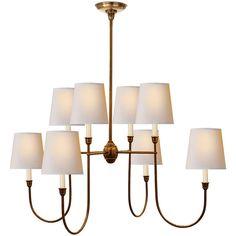Visual Comfort Lighting Thomas OBrien Vendome 8 Light Chandelier