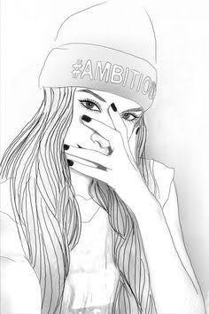 Resultado de imagem para desenho de menina tumblr