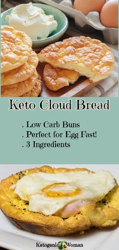 Keto Oopsie Roll Cloud Bread! Sure to become a staple substitute for buns and bread! Perfect on the Egg Fast too! Dairy free cloud bread option. #eggfast #ketocloudbread #cloudbread #dairyfreerecipes #ketogenicwoman #cleaneatingrecipes