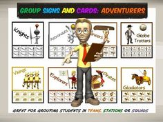 Group Signs and Cards: Adventurers