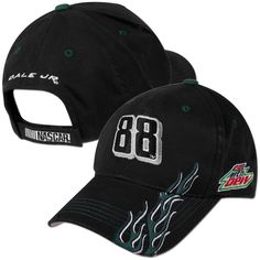 Purchase this Dale Jr Diet Mountain Dew Burner Adjustable Cap Black in our Team Store.