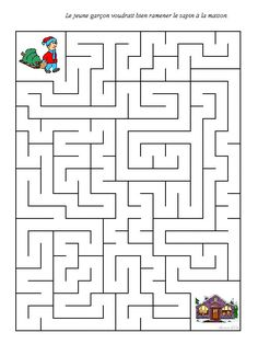Printable Mazes, Printable Activities For Kids, Preschool Worksheets, Winter Activities, Preschool Activities, Disney Themed Games, Quiet Time Boxes, Christmas Worksheets, Mazes For Kids
