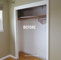 """[d]Before I had my bedroom closet updated, I thought having a """"walk-in"""" closet was the only way my husband and I could share a closet. Turned out, we just neede…"""