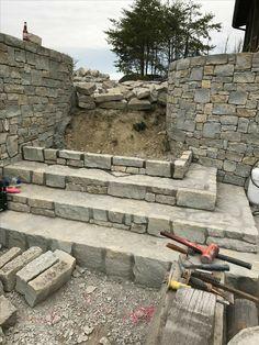 Gabion Stone, Stone Masonry, Masonry Wall, Stone Cottages, Stone Houses, Stone Cabin, Landscape Stairs, Stone Wall Design, Garden Retaining Wall