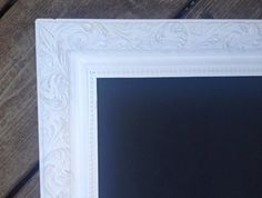 Large Framed Shabby Chic Chalkboard Weddings French by belou492, $88.00