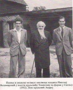 Prince Andrew and Prince Tomislav with Saint Nicholas (Metropolitian Velimirovic) of Zica and Ohrid Prince Andrew, Saint Nicholas, Royal House, Look Alike, Descendants, Ancestry, Edinburgh, Saints, History