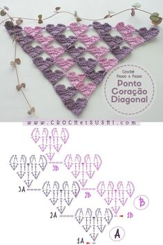 Crochet Motif Patterns, Crochet Lace Edging, Crochet Diy, Crochet Shawls And Wraps, Crochet Diagram, Crochet Chart, Crochet Patterns Amigurumi, Crochet Scarves, Crochet Doilies