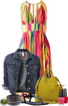 """Spring Rainbow"" by cynthia335 on Polyvore"