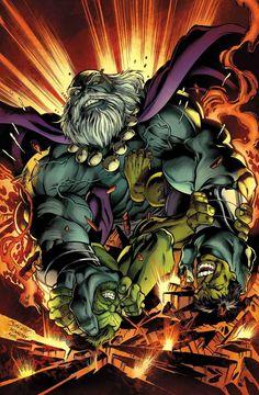 #Hulk #Fan #Art. (Hulk: Secret wars #16 cover) By: Mark Bagley. (THE * 5 * STÅR * ÅWARD * OF * MAJOR ÅWESOMENESS!!!™)