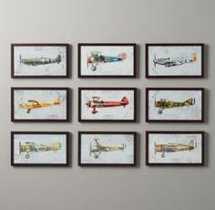 Vintage Prop Plane Art | Art | Restoration Hardware Baby & Child
