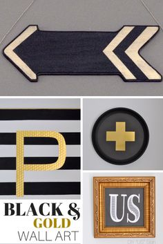 DIY BLACK & Gold Wal