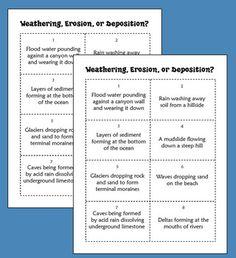 FREE Weathering, Erosion, and Deposition Sorting Activity - Laura Candler - TeachersPayTeachers.com