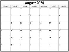 Kalender 2020 August Kalender August, June 2019 Calendar, Holiday Calendar, Free Printable Calendar, Holiday Fun, Planer, Sheet Music, Mai, Wallpapers