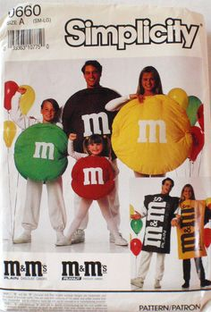 Adults and Childs M & M's Costume Pattern  by Shelleyville on Etsy-- for Mike