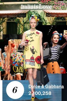 Dolce & Gabbana's fashion show had 2,100,258 page views