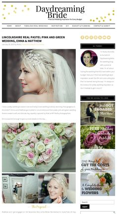 #ScreenGrab Absolutely delighted to be #Featured on @daydreambride today!  You can view the #StunningFeature and find out more about this couple at the following link: http://www.daydreamingbride.com/2015/01/lincolnshire-real-pastel-pink-green-wedding-emma-matthew/?utm_content=bufferd38df&utm_medium=social&utm_source=twitter.com&utm_campaign=buffer  Enjoy.  #LincolnshireWedding #FeaturedVenue Daydreaming Bride Wedding Blog #TeamMP #MPMedia #BespokePricing #BespokeServices