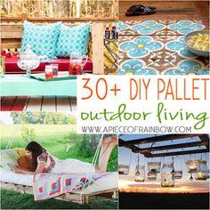 Over 30 inspiring DIY Outdoor Pallet projects from pallet coolers, pallet swings, pallet daybeds, pallet chair and sofa, to pallet chandelier, and more!