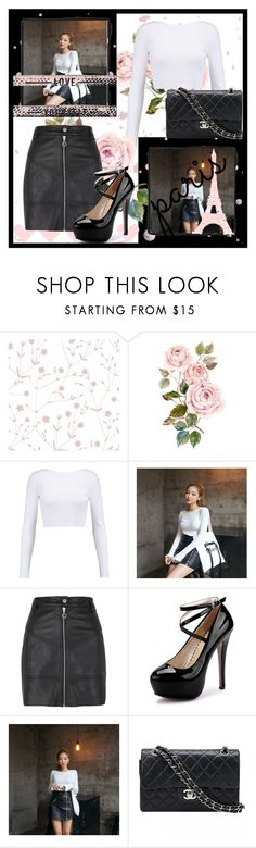 """""""An Evening in Paris"""" by fancysid ❤ liked on Polyvore featuring Marimekko, Cushnie Et Ochs, River Island and Chanel"""