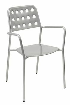 Steel chair, outside seating, urban design