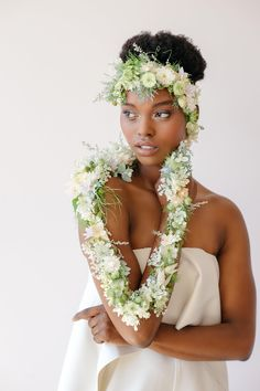 Ready-to-Wear: Floral Creations You Can Rock In Lieu of a Bouquet! Natural Hair Wedding, Floral Dress Design, Floral Designs, Floral Photography, Portrait Photography, Black Bride, Wedding Flower Inspiration, Floral Headpiece, Green Wedding Shoes
