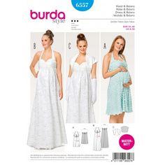 Patron Burda 2017 : Patron Robe de grossesse robe de mariée dos nu boléro Burda N°6557 disponible chez Ma Petite Mercerie, mercerie et tissu en ligne. Livraison rapide à partir de 2,99€.