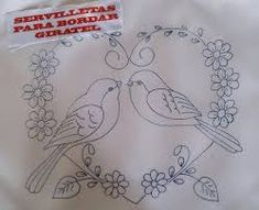 Embroidery Hearts, Bird Embroidery, Embroidery Motifs, Simple Embroidery, Machine Embroidery, Hand Embroidery Design Patterns, Stencil Patterns, Quilling Patterns, Pattern Drawing