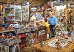 Gibsons L'Atelier de Grand Père Puzzle de 1000 Pièces: Amazon.fr: Jeux et Jouets