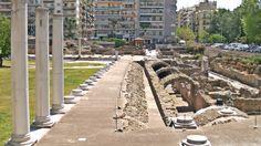 The Ancient Agora of Thessaloniki. Patron Saints, Thessaloniki, Railroad Tracks, Sidewalk, Walking, Side Walkway, Sidewalks, Woking, Pavement