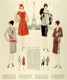 my vintage vogue 20s Fashion, Moda Fashion, Fashion History, Fashion Photo, Fashion Art, Paris Fashion, Fashion Dresses, Mode Vintage, Vintage Vogue