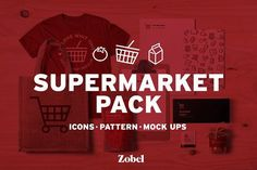 Supermarket | Icons+Pattern+Mockups by Zobel Inc on @Graphicsauthor