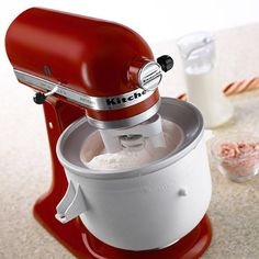 Turn your stand mixer into an ice cream maker instantly. Just turn on the mixer, pour in the batter and let the dasher and freeze bowl do the work.