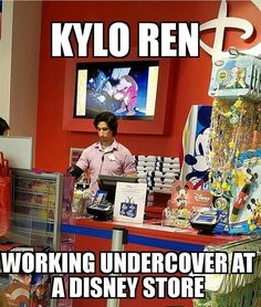 Not a very good disguise there, Kylo.