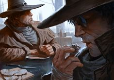 Judges-eating-soup by Marko-Djurdjevic | Create your own roleplaying game books w/ RPG Bard: www.rpgbard.com | Pathfinder PFRPG Dungeons and Dragons ADND DND OGL d20 OSR OSRIC Warhammer 40000 40k Fantasy Roleplay WFRP Star Wars Exalted World of Darkness Dragon Age Iron Kingdoms Fate Core System Savage Worlds Shadowrun Dungeon Crawl Classics DCC Call of Cthulhu CoC Basic Role Playing BRP Traveller Battletech The One Ring TOR fantasy science fiction horror